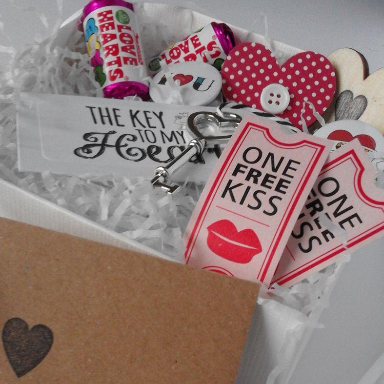 Personalised Valentine Gift Box Hamper Handcrafted Romantic Hamper
