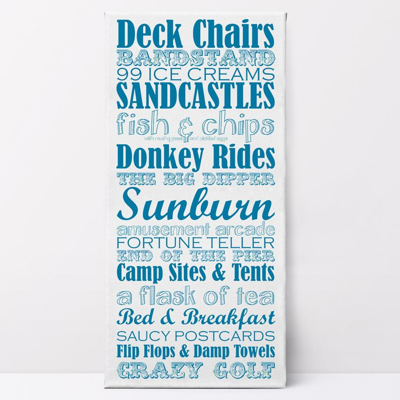 Great British Seaside Holidays Canvas Prints | unique, quality customised canvas wall art, nautical canvas aret, free UK P&P, PhotoFairytales