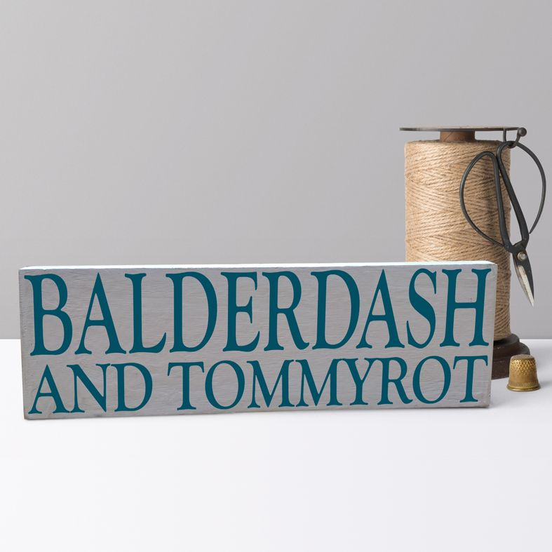 Balderdash and Tommyrot Bespoke Wooden Typography Sign | handmade wooden signs and plaques from PhotoFairytales