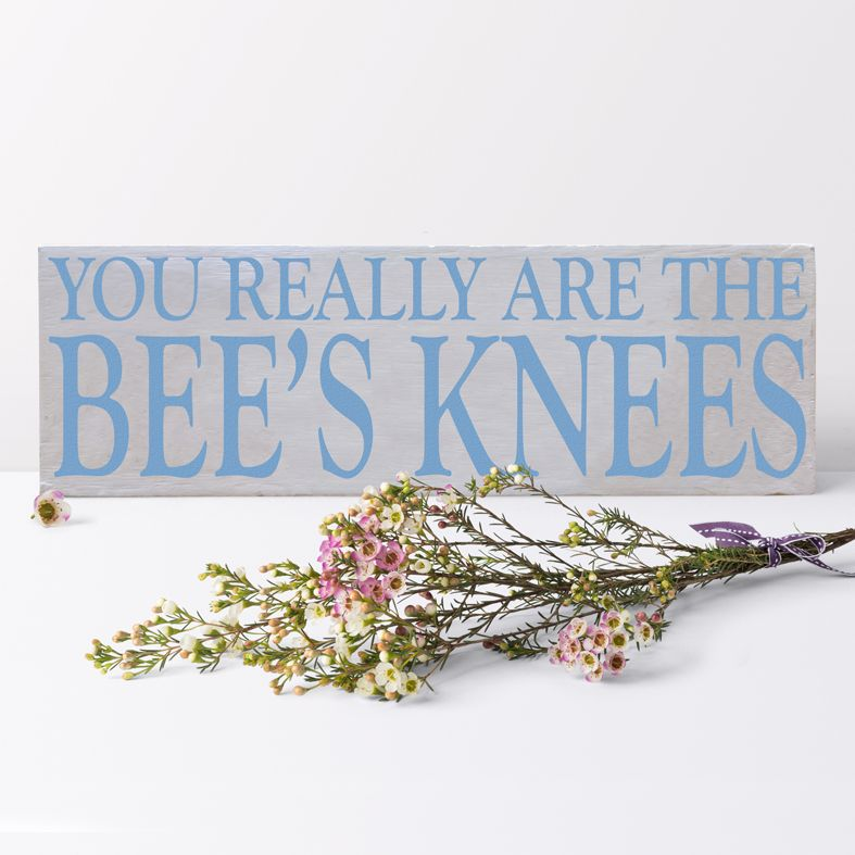 Bee's Knees Bespoke Wooden Typography Sign | handmade wooden signs and plaques from PhotoFairytales