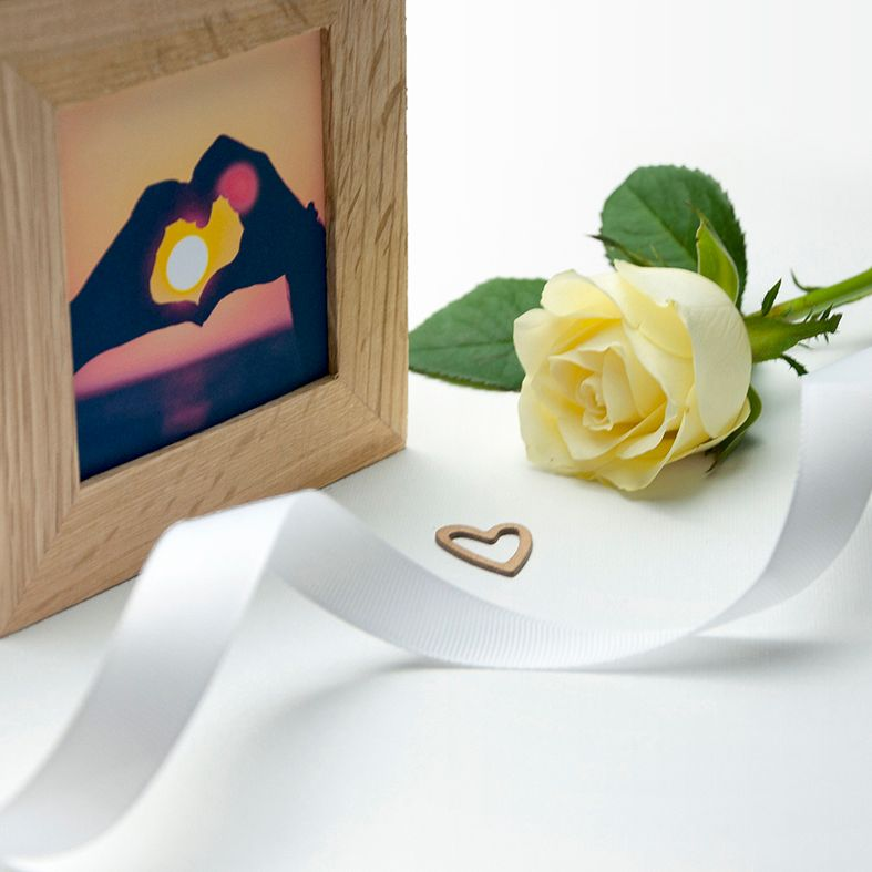 Personalised Real Oak Photo Cubes   romantic gift for Valentine, anniversary or wedding. Handcrafted, engraved to order, also available filled with chocolates!