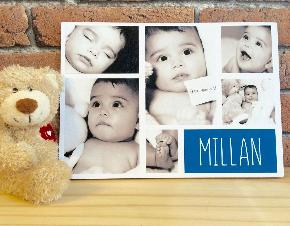 Handmade Wooden Storyboard Photo Plaques: wall mounted or freestanding, personalised with your photos & wording | PhotoFairytales