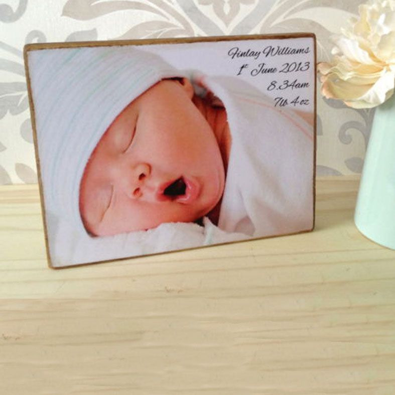 Handmade Rustic Wooden Photo Blocks - freestanding solid wood, featuring your own photo and words, PhotoFairytales