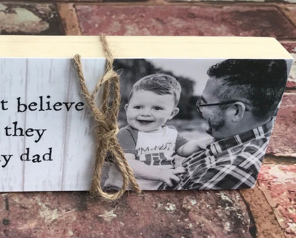 Handade Wooden Photo Message Blocks   personalised with your photo and any wording, PhotoFairytales