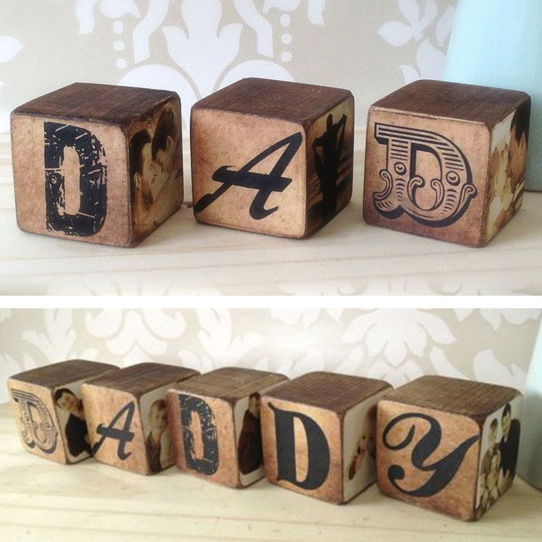 Handmade Wooden Letter Photo Blocks | spell any word or name, personalised with your own photos, PhotoFairytales