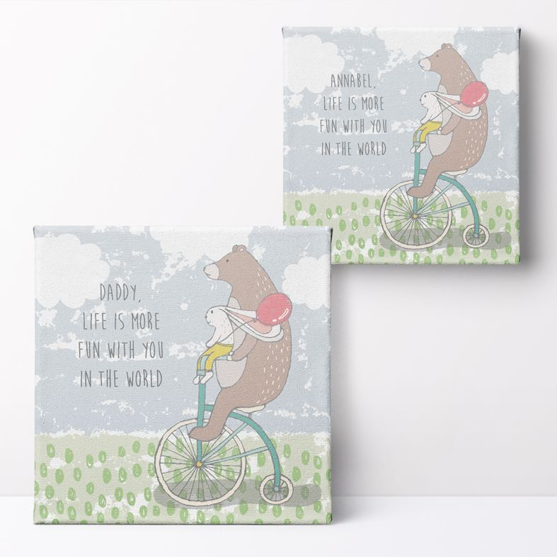 Life is More Fun with You Personalised Print   adorable personalised art, PhotoFairytales