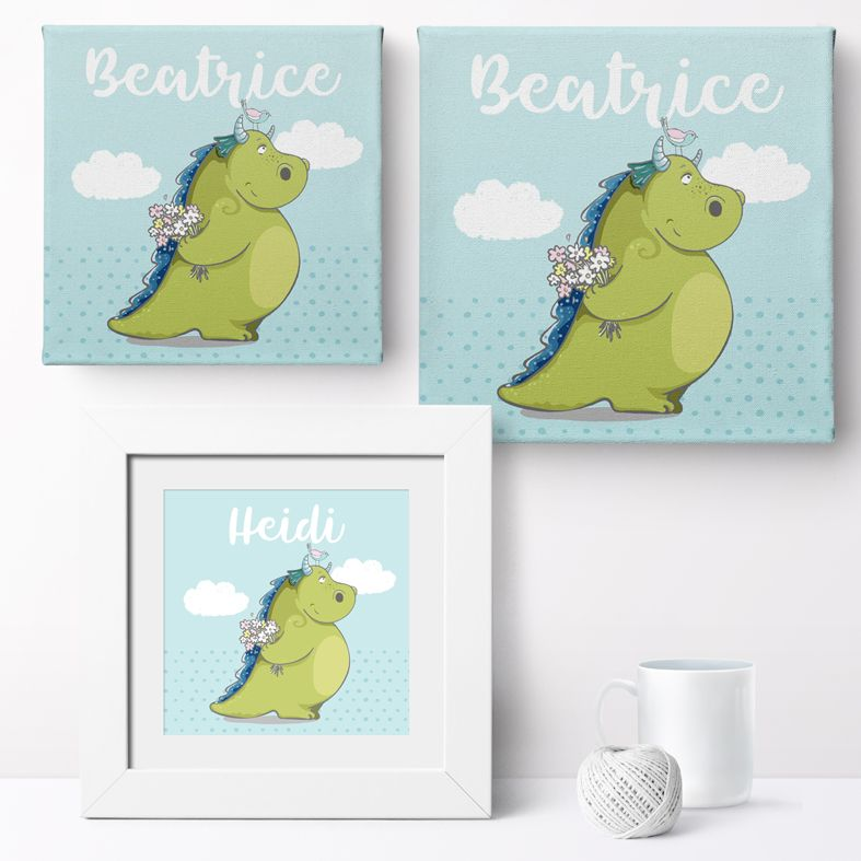 Personalised Dragon nursery print | bespoke baby christening gifts from PhotoFairytales