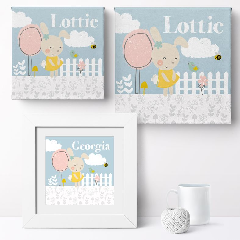 Personalised Summer Garden nursery print | bespoke baby christening gifts from PhotoFairytales