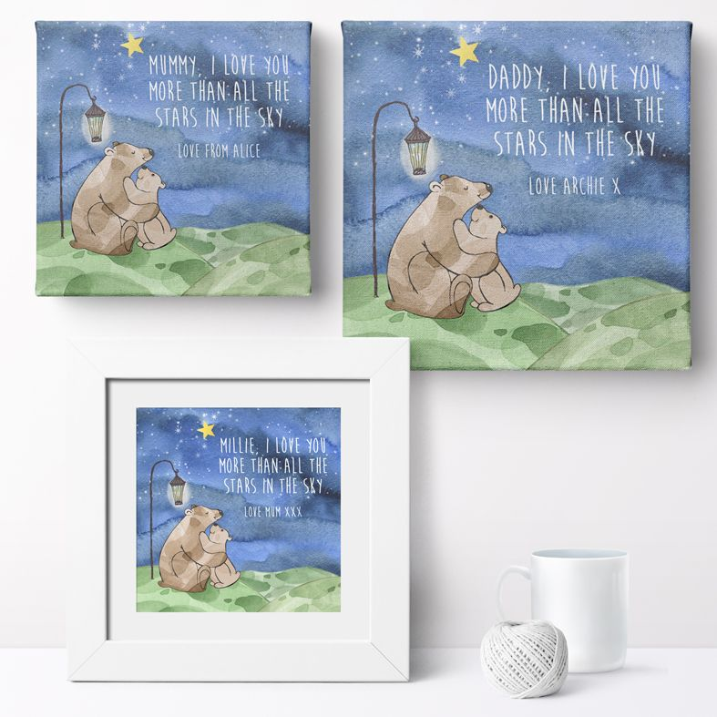 Personalised Love You More nursery print | bespoke baby christening gifts from PhotoFairytales