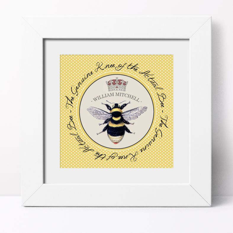 Bee's Knees Personalised Print | Personalised Canvas and Art Prints, PhotoFairytales