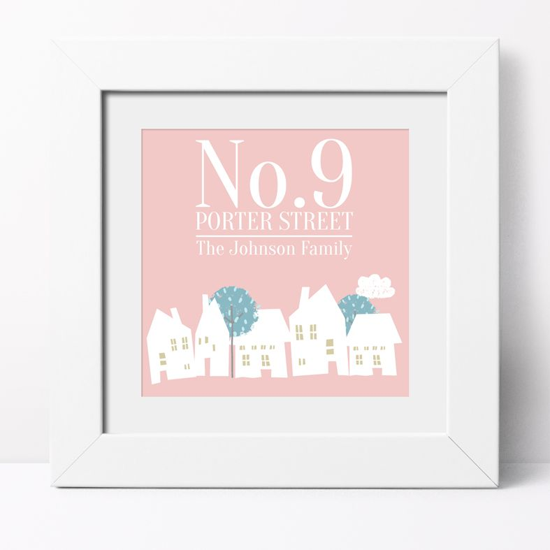 Personalised Family Address Print | Personalised Family Housewarming Gift, Custom Canvas and Art Print, PhotoFairytales