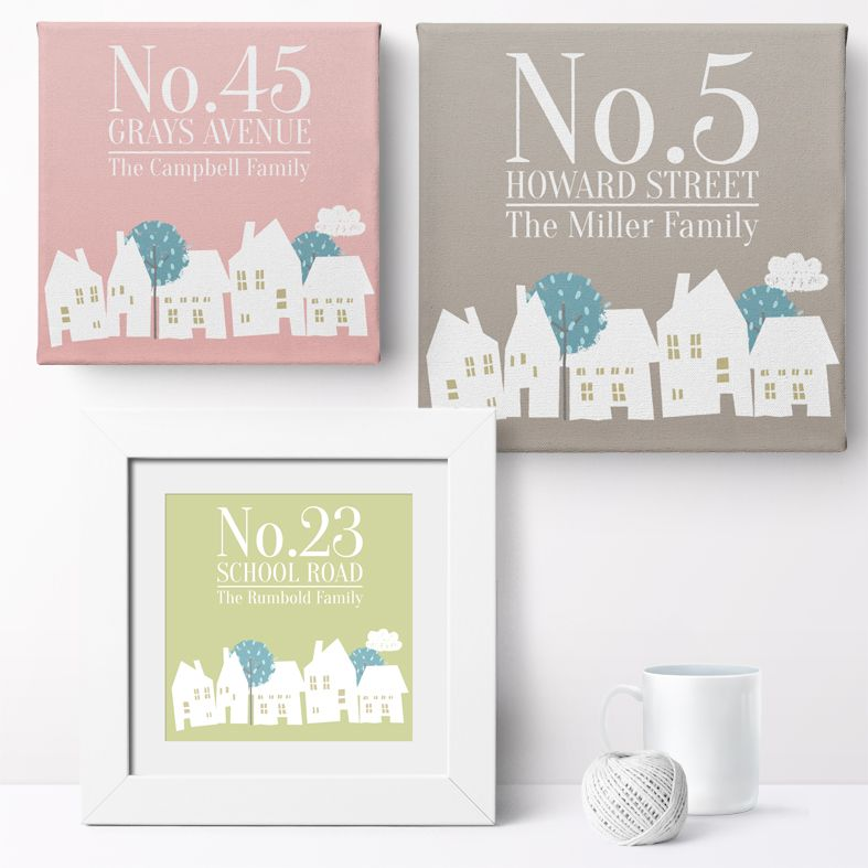Family Address Personalised Print | Personalised Housewarming Gifts for Family, Canvas and Art Prints, PhotoFairytales