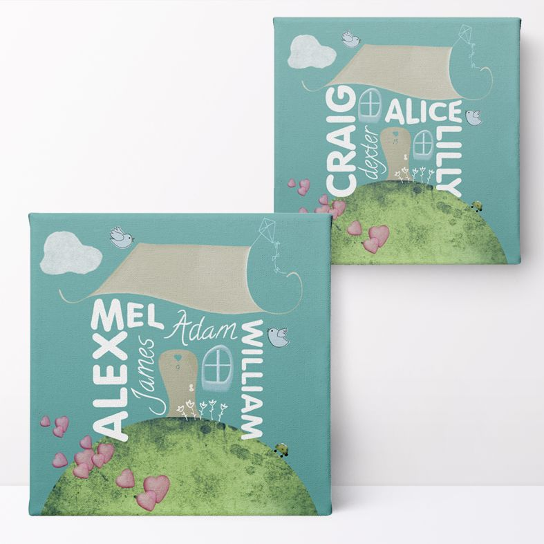 Personalised Family Home Print | Personalised Family Gift, Custom Canvas and Art Print, PhotoFairytales #housewarminggift