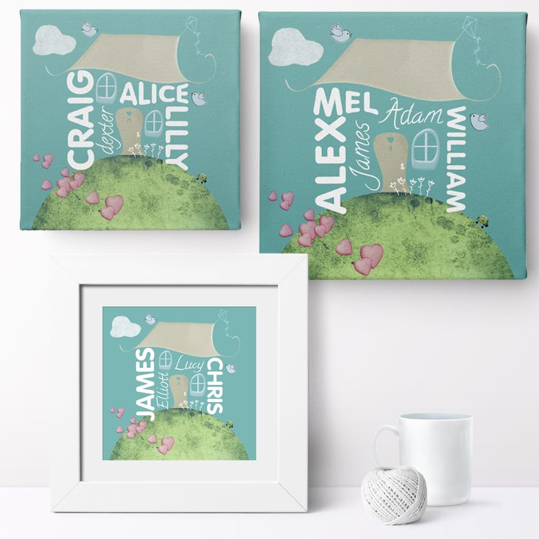 Personalised Family Home Print | Personalised Family Gift, Custom Canvas and Art Print, PhotoFairytales