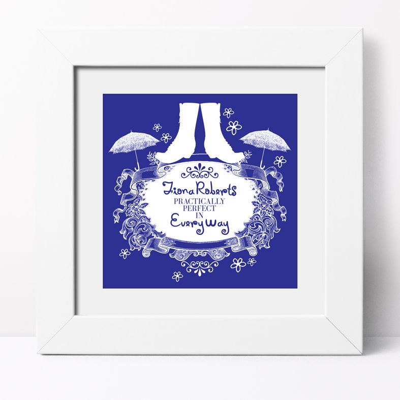 Practically Perfect Personalised Print | Custom Canvas and Art Prints for Her, PhotoFairytales