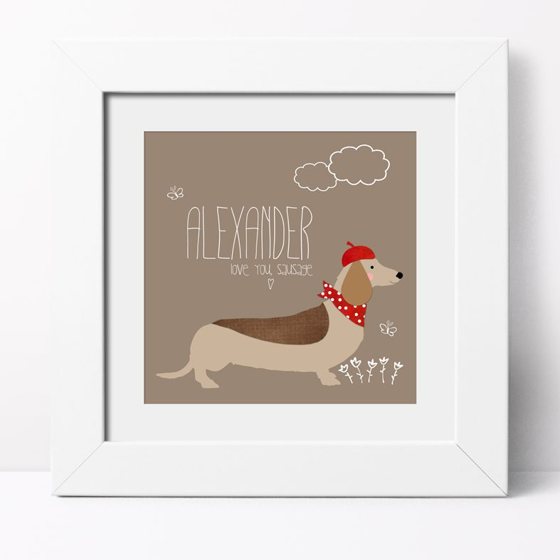 Sausage Dog Dachshund Personalised Print | Custom Canvas and Art Prints for Dog Lover, PhotoFairytales