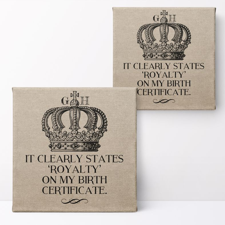 Personalised Royalty Print | Custom Canvas and Art Prints for Him, PhotoFairytales