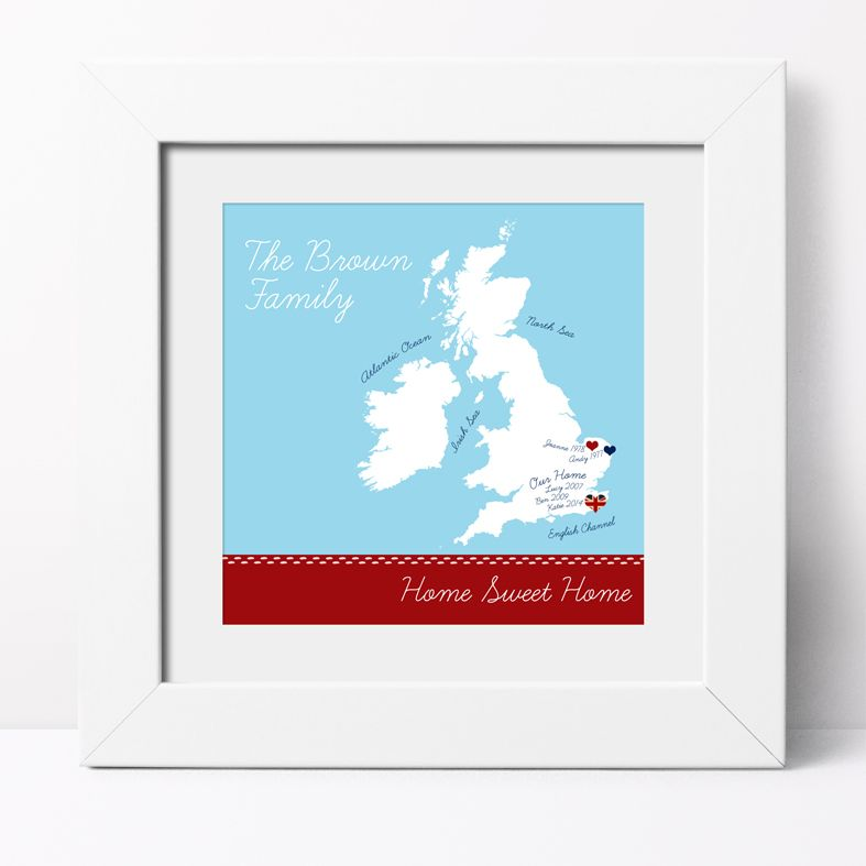 Home Sweet Home Personalised Print | Romantic Custom Canvas and Art Prints for Valentine, Wedding or Anniversary Gift, PhotoFairytales