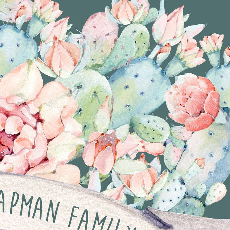 Cactus Family Personalised Print | Personalised Housewarming Gifts for Family, Canvas and Art Prints, PhotoFairytales