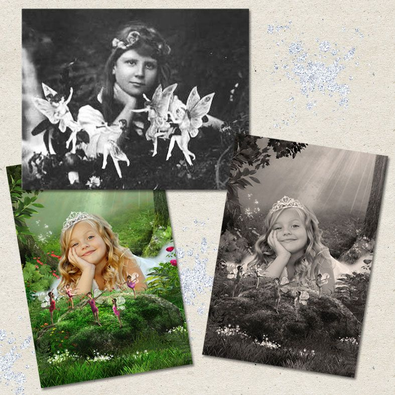 Cottingley, fairy tale fantasy image created from your own photo into unique personalised portrait and bespoke wall art | PhotoFairytales