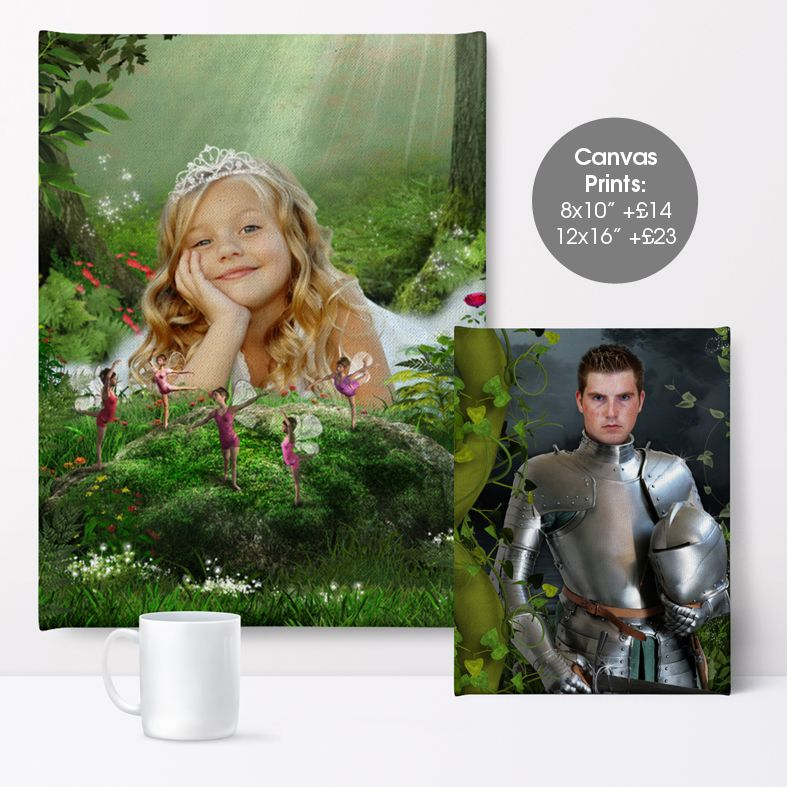 Woodland Clearing, fairy tale fantasy image created from your own photo into unique personalised portrait and bespoke wall art | PhotoFairytales