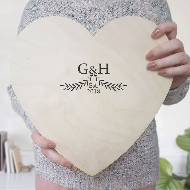 Personalised Wooden Wedding Guest Book Hearts | unique wedding guest book alternative, handmade and customised natural wood keepsake guestbook #personalisedwedding #weddingguestbook #alternativeguestbook