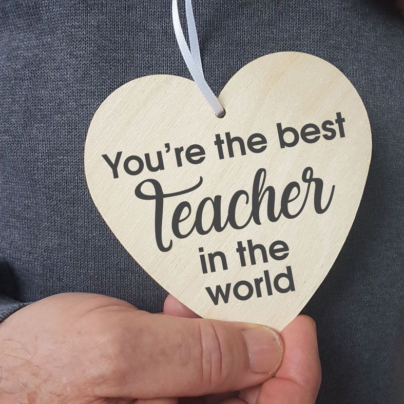 Personalised Teacher Gift Heart Wooden Plaques | beautifully gift boxed, handmade wooden hearts - a unique way to make an important announcement or send a message to friends & family