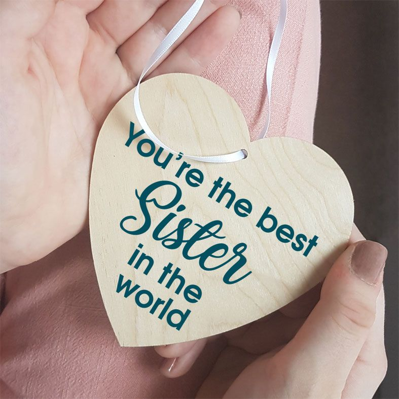 Personalised Announcement Gift Heart Wooden Plaques | beautifully gift boxed, handmade wooden hearts - a unique way to make an important announcement or send a message to friends & family