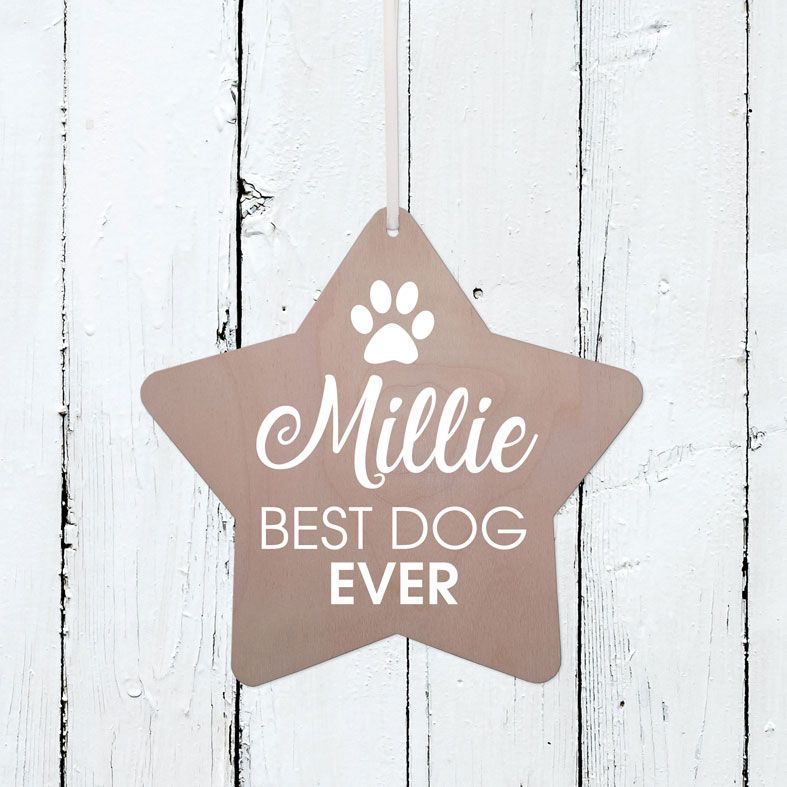 Personalised Best Dog Wooden Plaque | Handmade birch wood hanging sign, personalised gift for dog lover #doglovergift