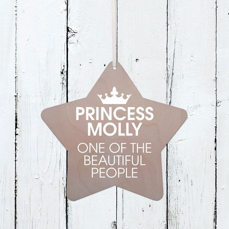 Personalised Prince or Princess Wooden Plaque   Handmade birch wood hanging sign for your baby's nursery or child's bedroom