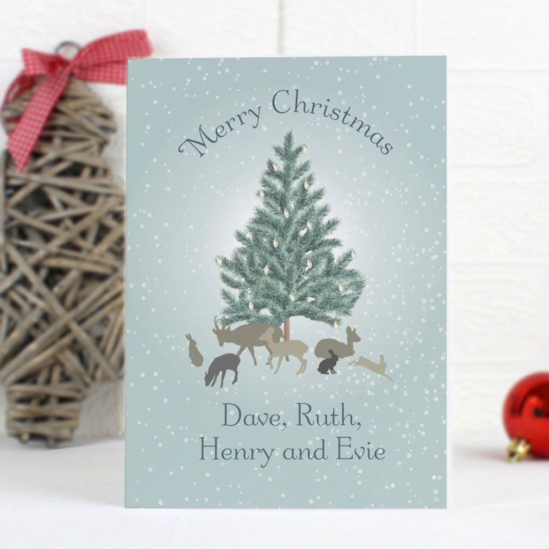 A Winter's Night Personalised Christmas Card | PhotoFairytales