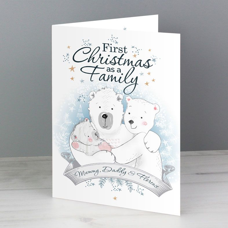 1st Christmas As A Family | Personalised Christmas Card