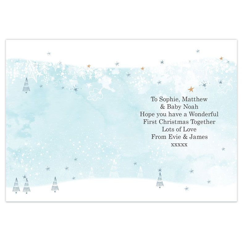 1st Christmas As A Family   Personalised Christmas Card