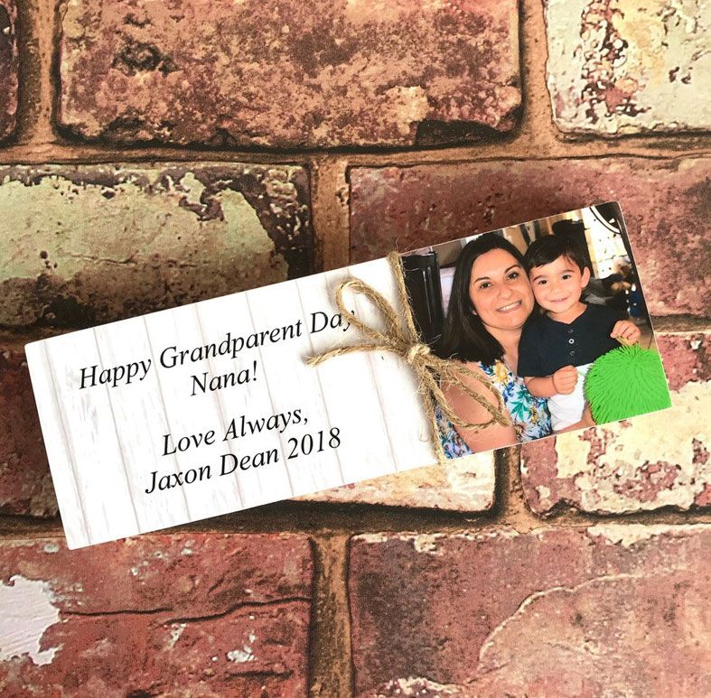 Freestanding Wooden Photo Message Blocks | personalised missing you gifts from PhotoFairytales