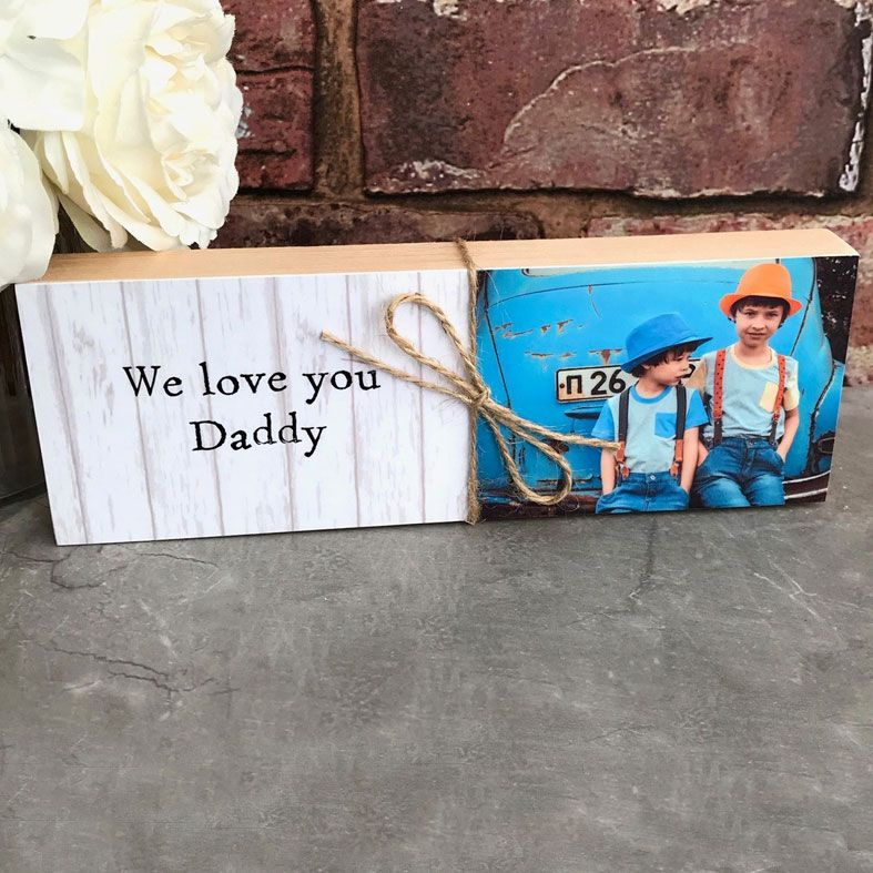 Wooden Photo Blocks, handmade featuring your own photos | PhotoFairytales