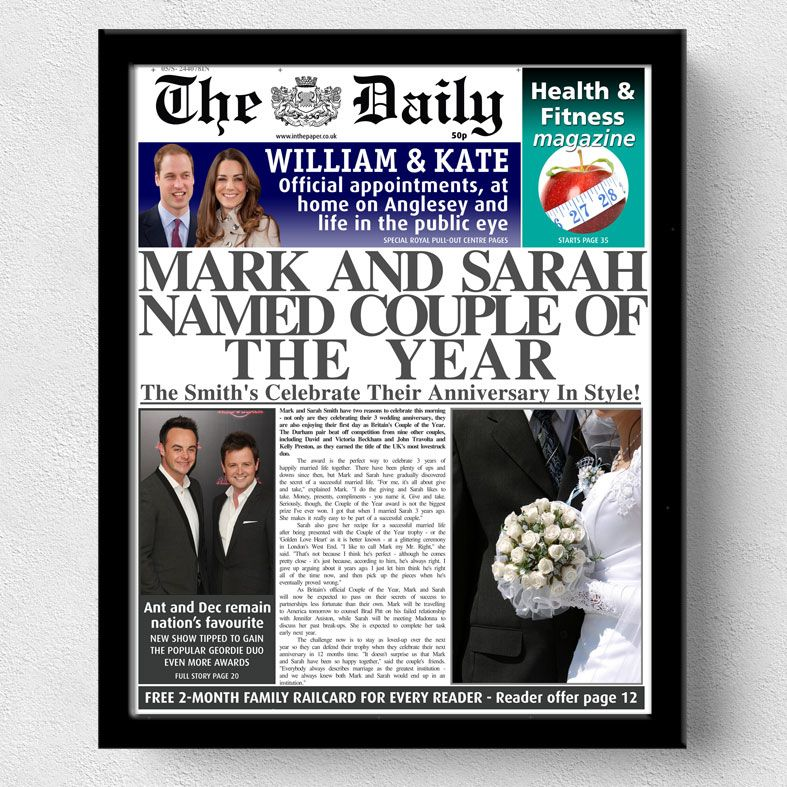 Personalised Newspapers | personalised newspaper gift from PhotoFairytales