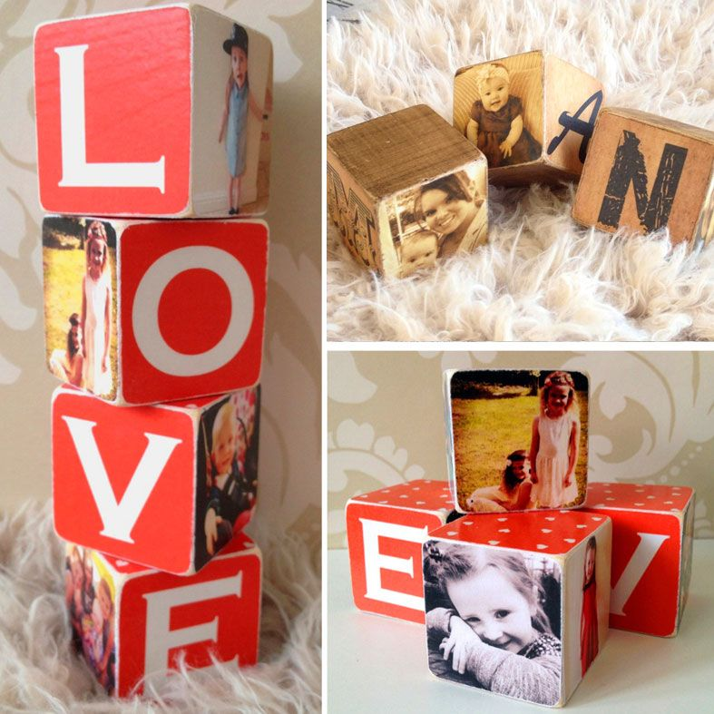 Personalised Wooden Photo Cubes | Missing You Gift, from PhotoFairytales