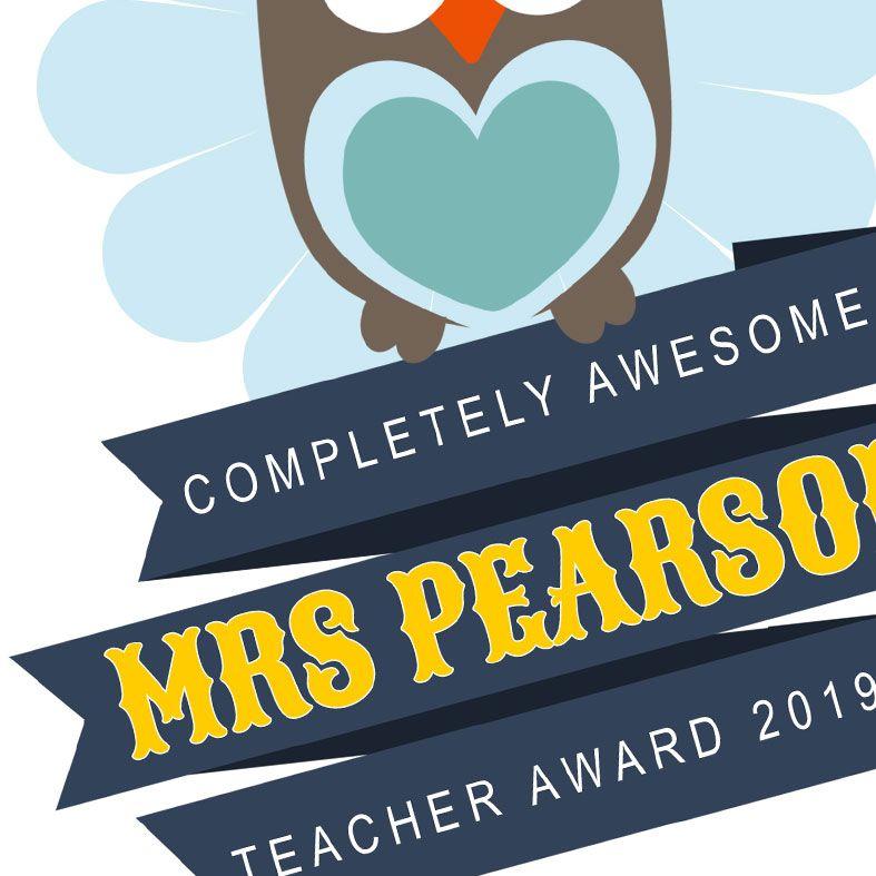 Personalised Thank You Teacher Print | Teacher Award print, thoughtful thank you teacher gift idea, from PhotoFairytales #teachergift