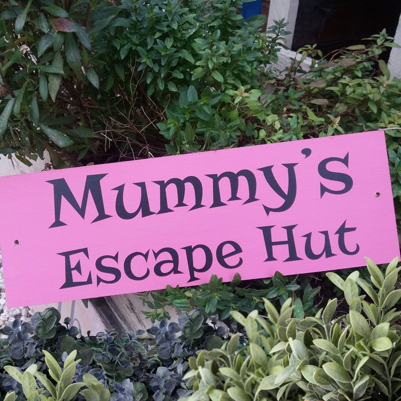 Personalised Mother's Day Gifts, free UK delivery - Handmade Outdoor Wooden Signs and Plaques | any wording, bespoke exterior wood garden house signs and plaques