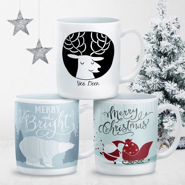Personalised Christmas Mugs from PhotoFairytales #personalisedstockingfiller #secretsantagifts