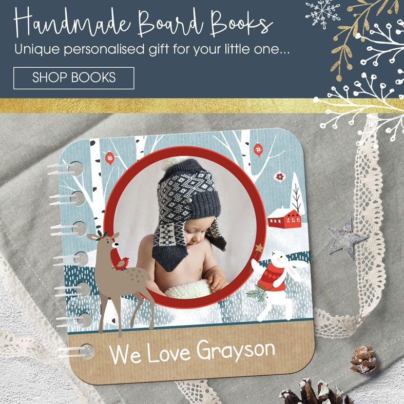 Personalised Handmade Baby Board Books from PhotoFairytales | Unique, handmade gifts and keepsakes