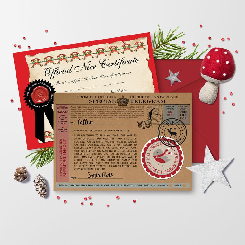Personalised Santa Telegrams | individually created, superb quality and fantastic value with brilliant customer feedback, from PhotoFairytales
