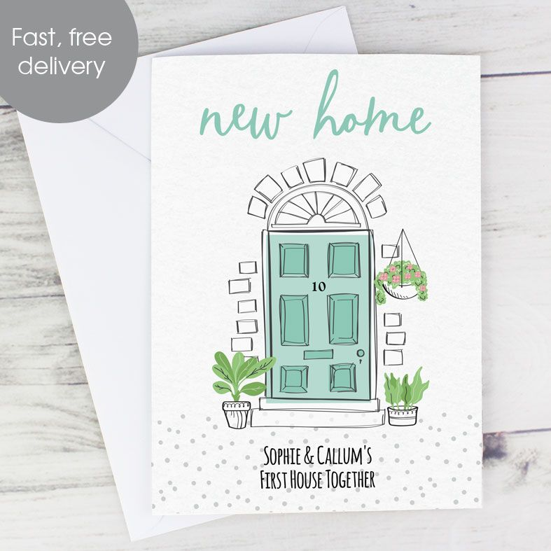 New Home personalised greeting card