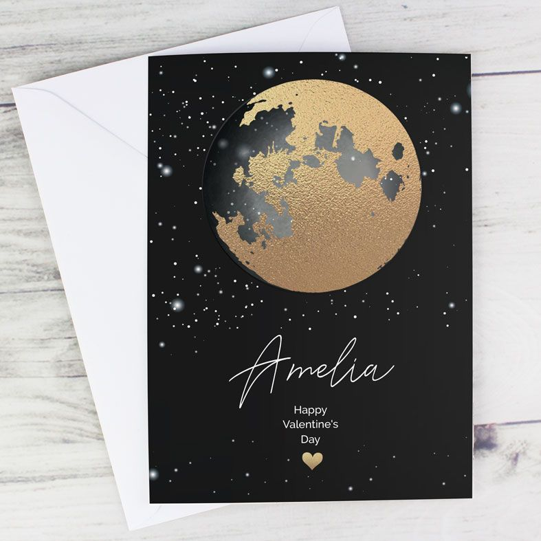 Moon and Stars personalised greeting card