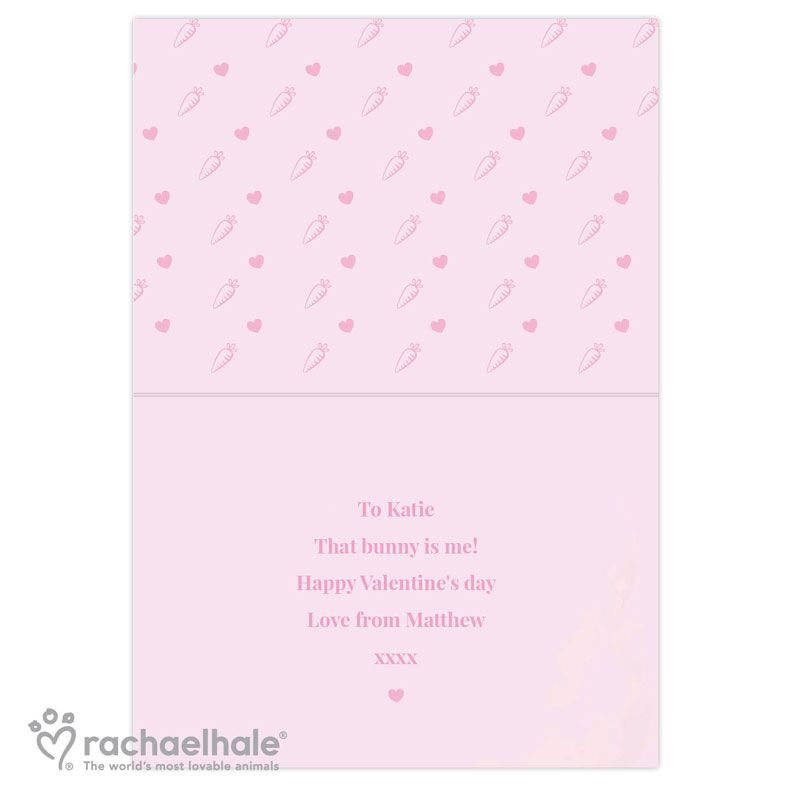 Some Bunny Loves You personalised greeting card