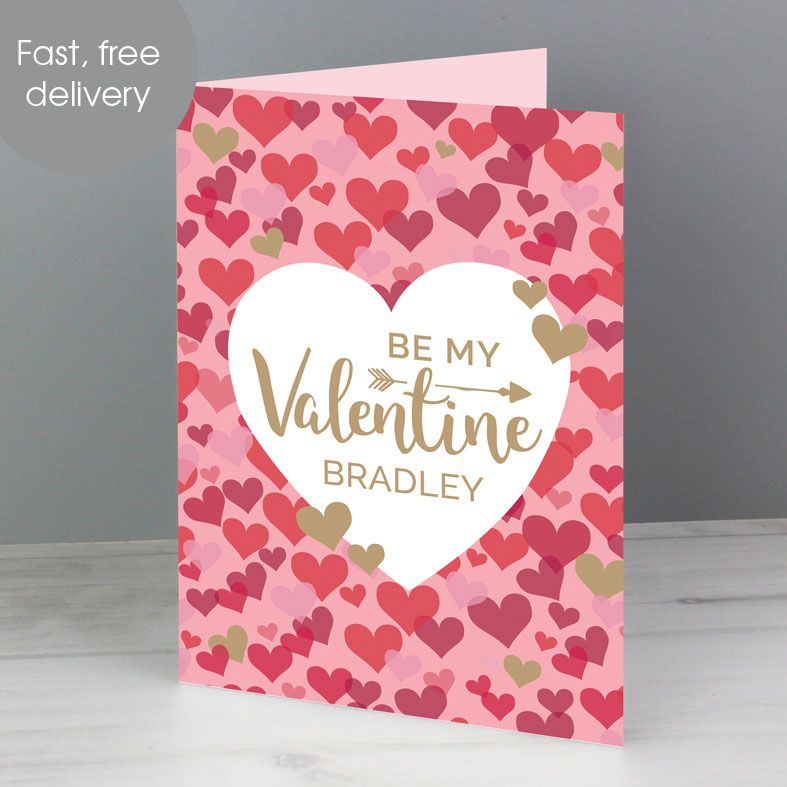 Valentine Confetti personalised greeting card