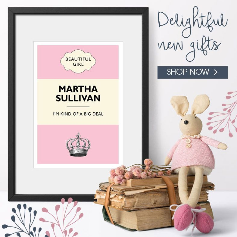 Latest brand new personalised handmade gifts, from PhotoFairytales