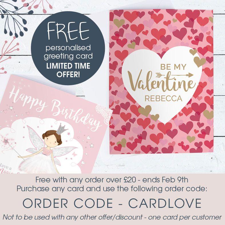Personalised Greeting Cards | personalised Valentine cards | from PhotoFairytales