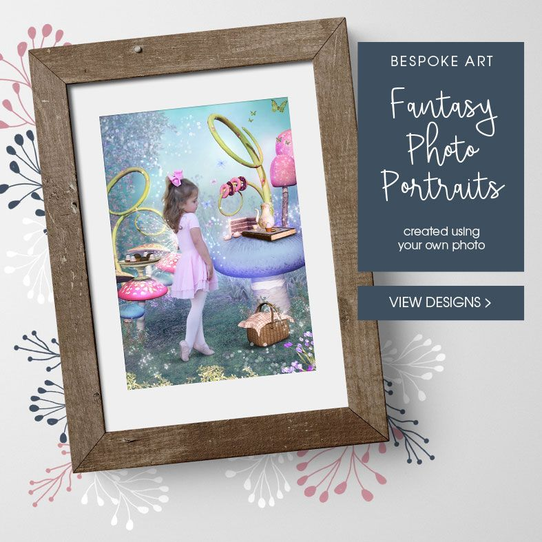Bespoke Fantasy Fairytale Photo Portraits | Personalised custom art created from your photo, PhotoFairytales