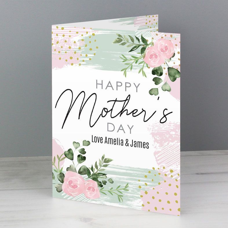 Abstract Rose personalised Mother's Day greeting card | PhotoFairytales